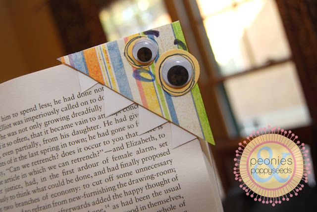 monster bookmark tutorial | Peonies and Poppyseeds--doing this for summer reading!!!
