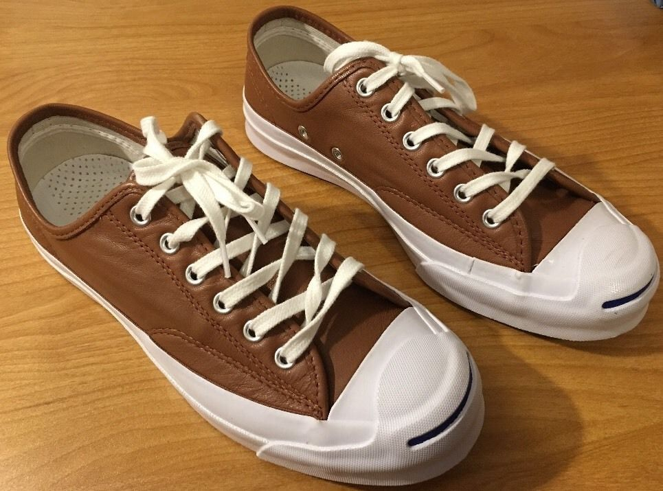 converse 6 5 womens. **sold on poshmark** new converse jack purcell signature leather ox brown mens 6 5 womens pinterest