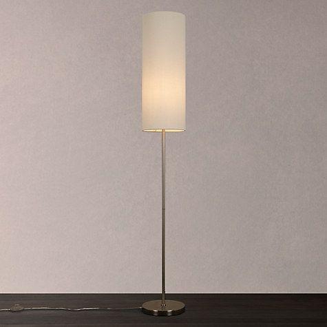 Chrissie slim shade floor lamp satin nickel aloadofball Image collections