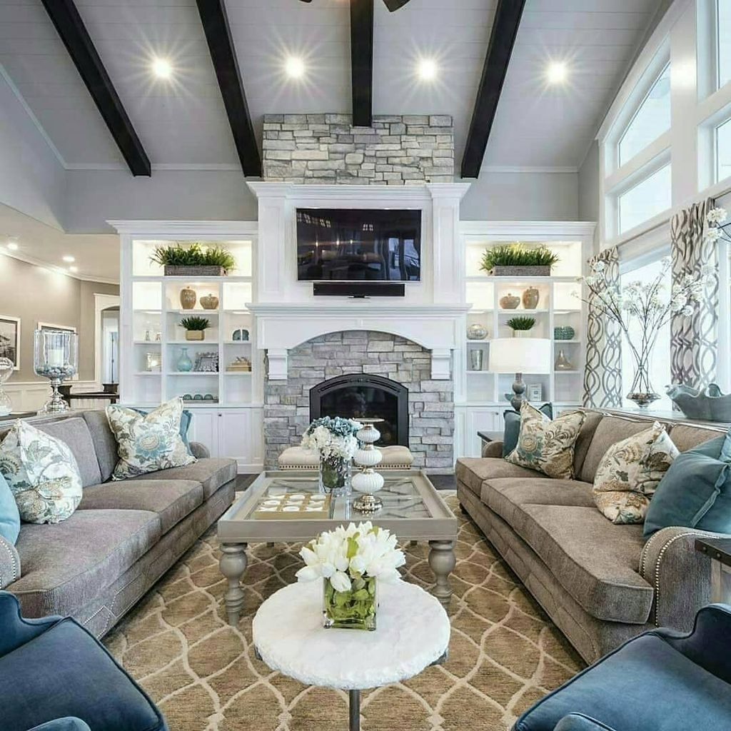 49 Cool Design Layout Ideas For Family Room Large Living Room