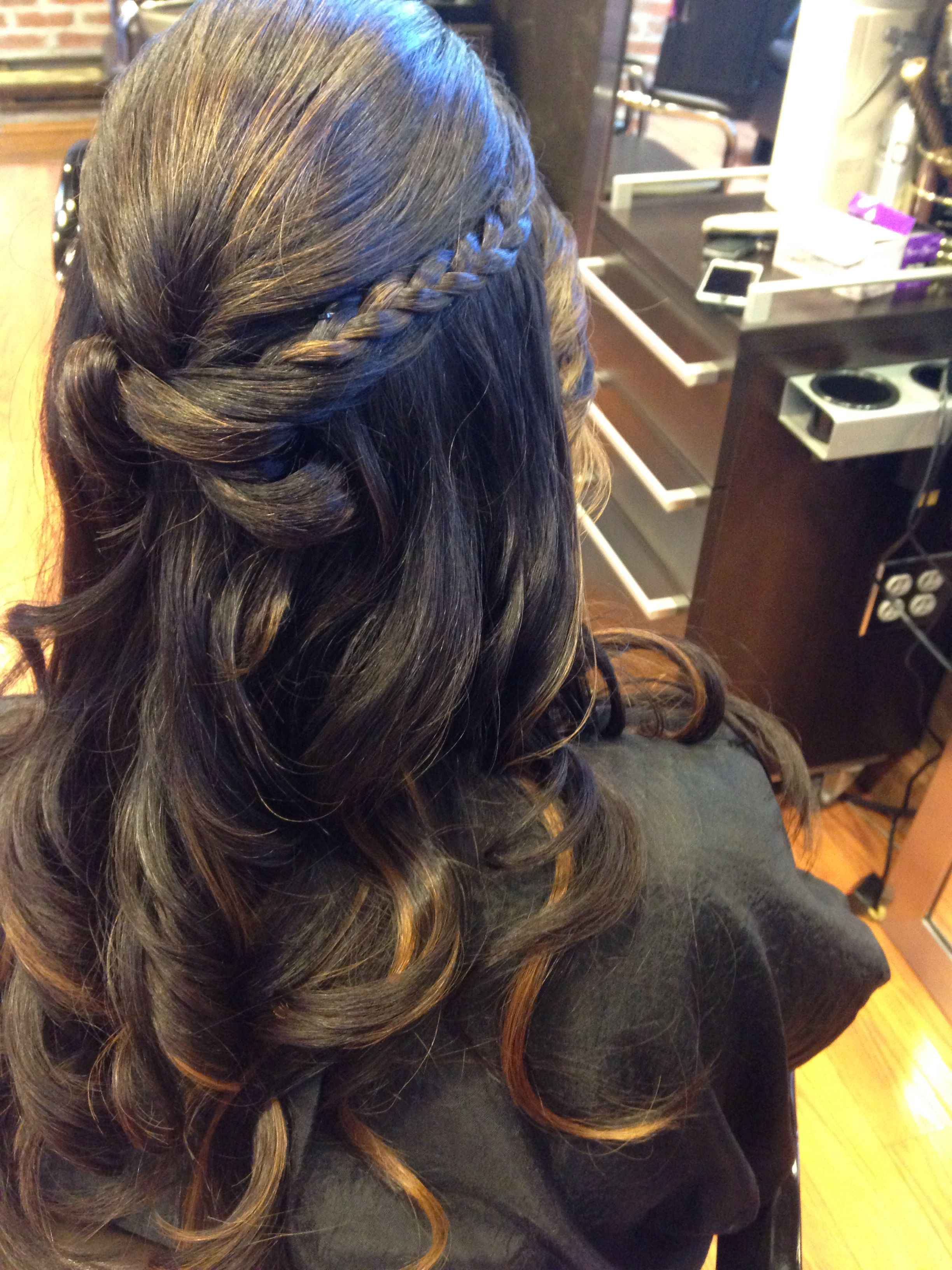 half up half… | wedding hairstyles , sweet 16 , proms , my