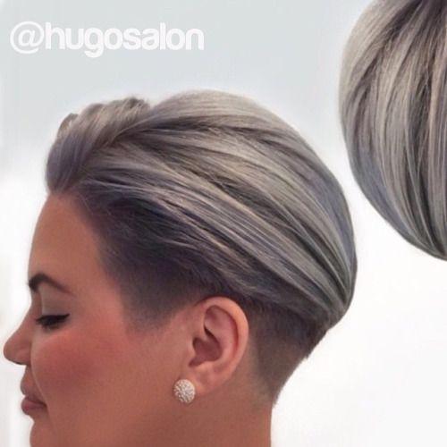 Einfache Frisur mit eigentlich etwas längeren Haaren (ca ...