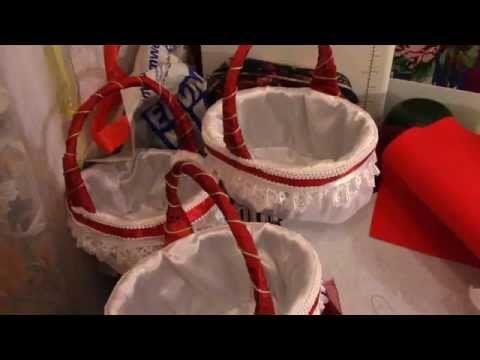 Свадебные корзинки для лепестков роз и украшения церемонии - YouTube