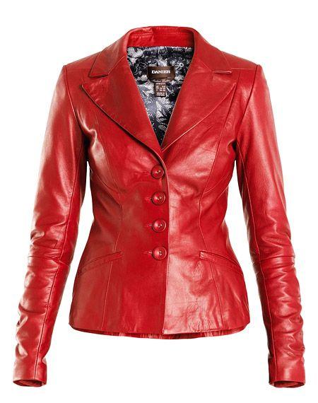Yesss, red... Danier : women : jackets & blazers :  leather women jackets & blazers 110030355 
