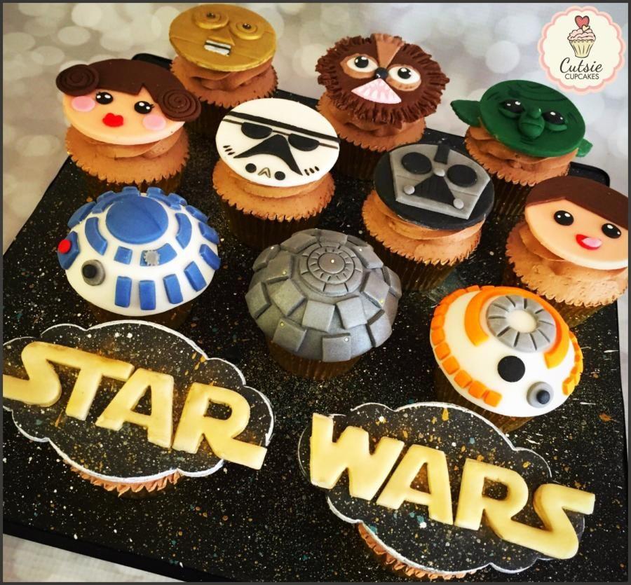 Star Wars Cupcake Board Star Wars Cupcakes Star Wars Cookies