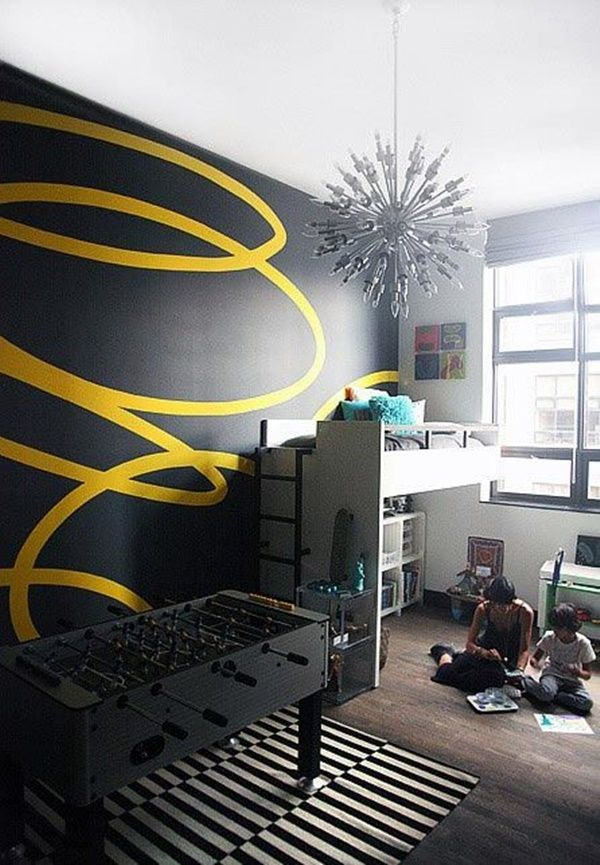 40 Abstract Wall Painting Ideas For A More Artistically Rich Look Interior Wall Paint Wall Painting Interior Paint
