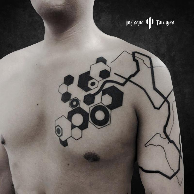 Tatuaje Varon Geometrico Cdmx Mexico Tattoo Tattoos Tat