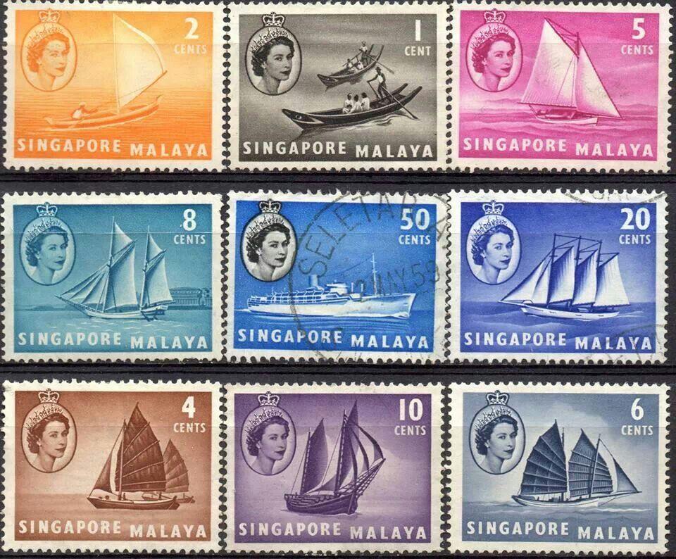 Singapore Stamp, Singapore, Historical