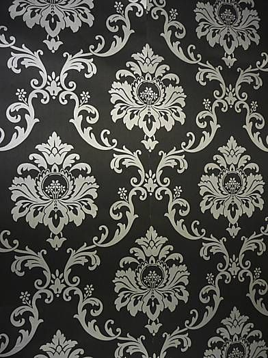 Black And Silver Damask Wallpaper Colemans Wallpaper Touch
