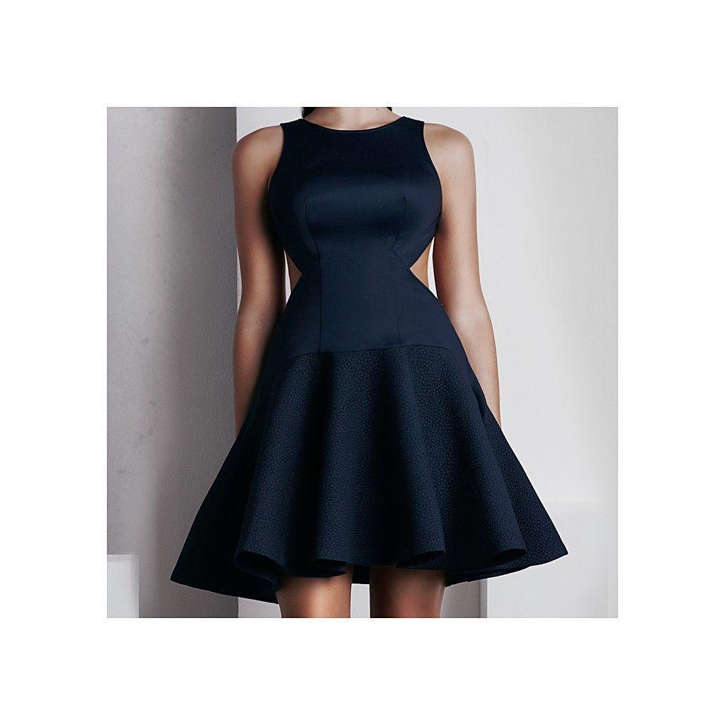 'Calypso' Short Dress - French Navy