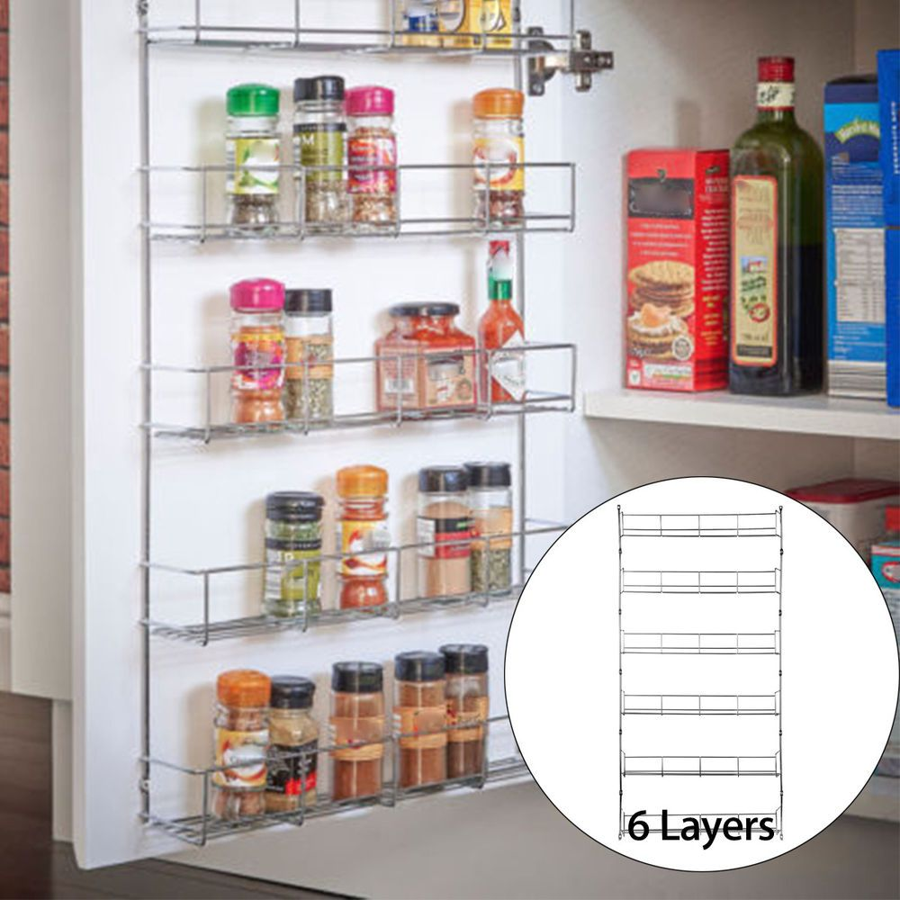 Only The Rack Other Stuff Is Not Included 1 X Rack Unassembled Storage Layer 6 Layers W Diy Kitchen Storage Kitchen Spice Racks Kitchen Cupboard Doors