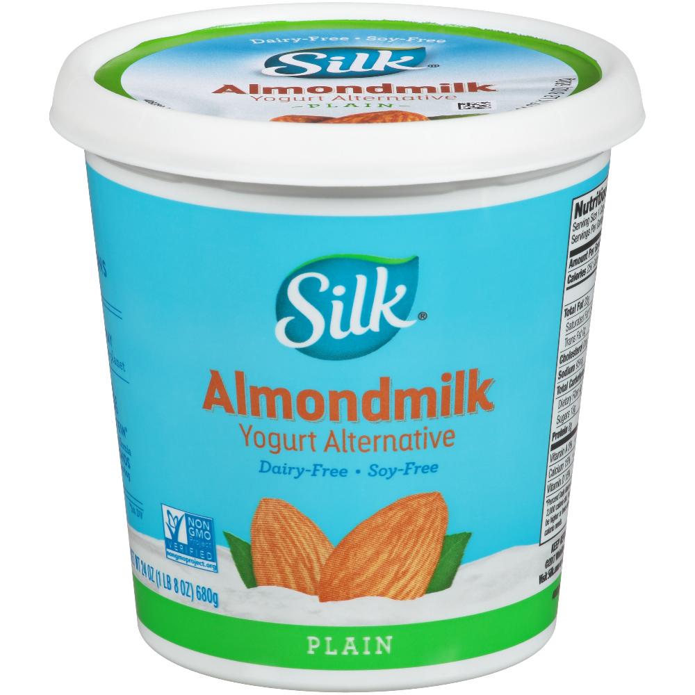 Silk Plain Almondmilk Yogurt Alternative 24 Oz Walmart Com In 2020 Yogurt Silk Yogurt Plain Yogurt