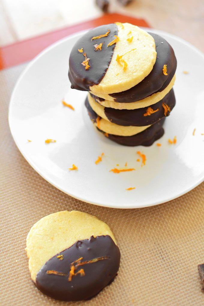 Chocolate-Dipped Orange Shortbread Cookies   Recipe ...