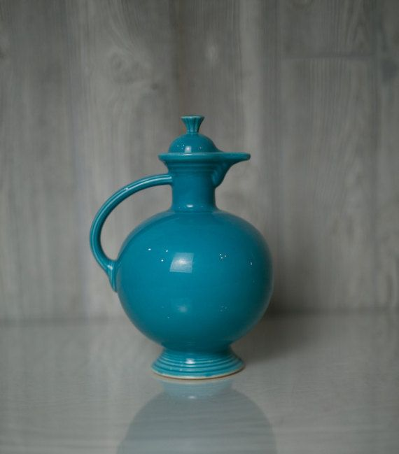 Vintage Fiestaware Turquoise Carafe 1936-1947 by cielorosa on Etsy
