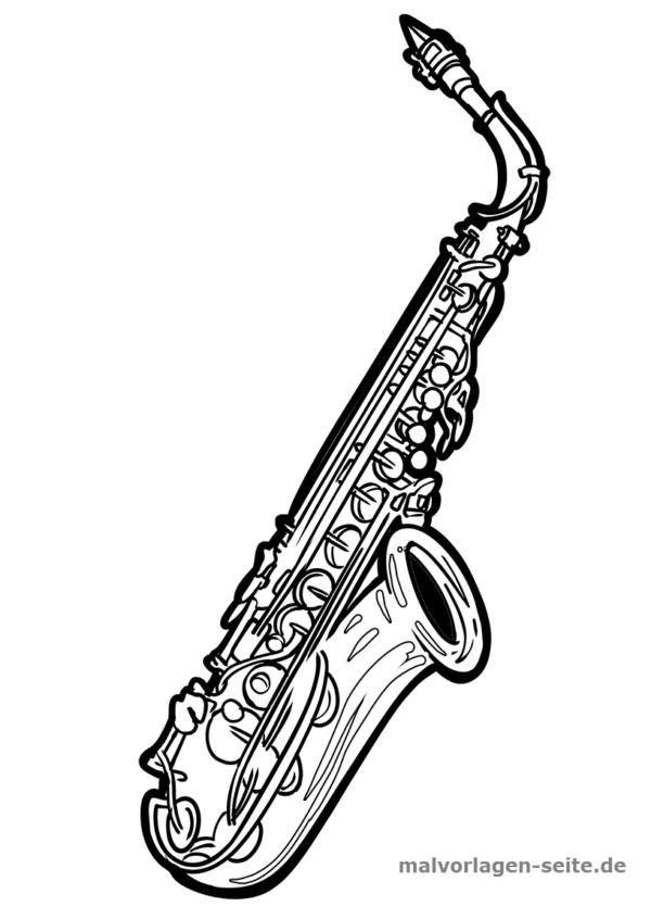 Malvorlage Saxophon Musik Saxophon Ausmalen Malvorlagen