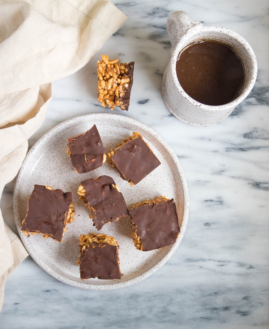 Almond Butter & Chocolate Puffed Rice Squares | Recipe ...