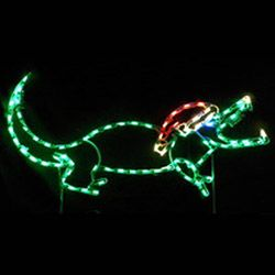 led outdoor christmas decorations lighted animal decorations small alligator with santa hat led lighted outdoor lawn decoration christmas decorations - Lighted Christmas Lawn Decorations