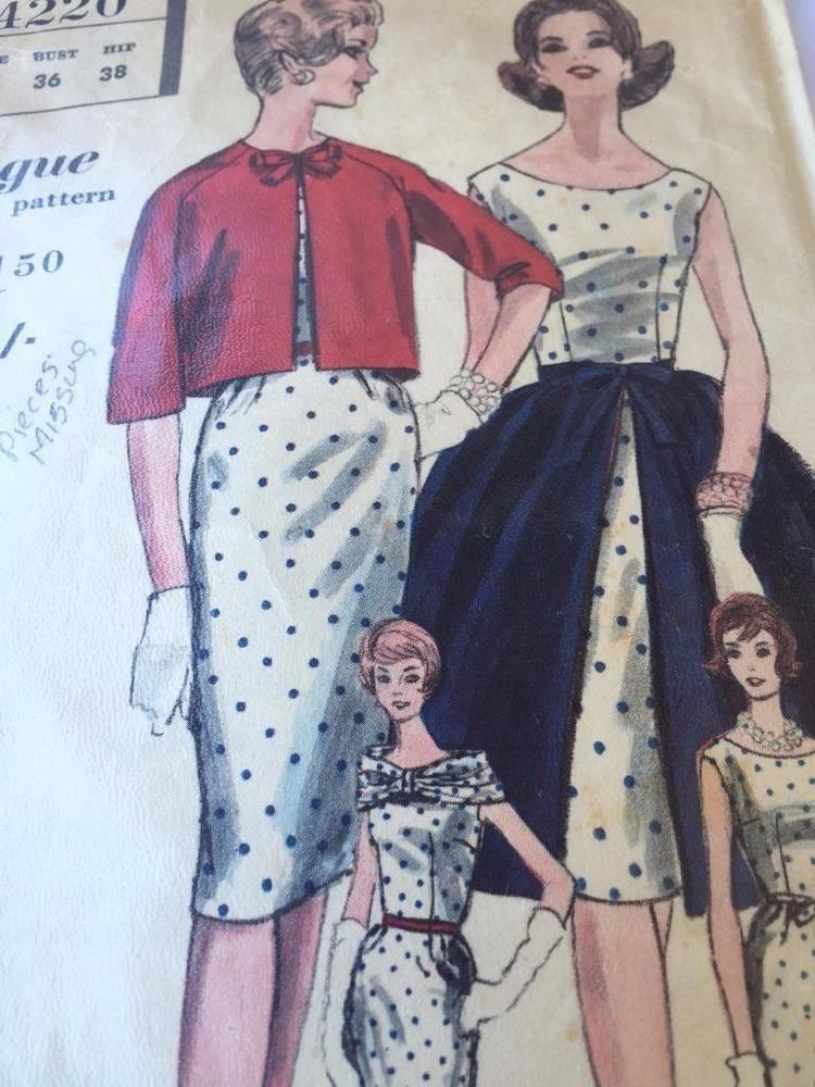 Vogue Sewing Pattern 4220 Misses Ladies One Piece Dress Size 16 Cut ...