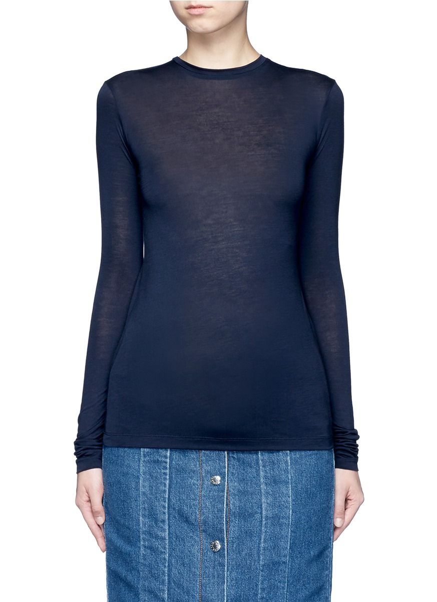 ACNE STUDIOS 'Marisol' long sleeve slub jersey T-shirt. #acnestudios #cloth #t-shirt