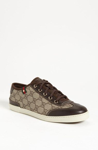01407f579e9ae I like Gucci sneakers, but they re around  400. For cheaper options, I like  Michael Kors or Coach, which are around  100 or less. I like brown sneaker  with ...