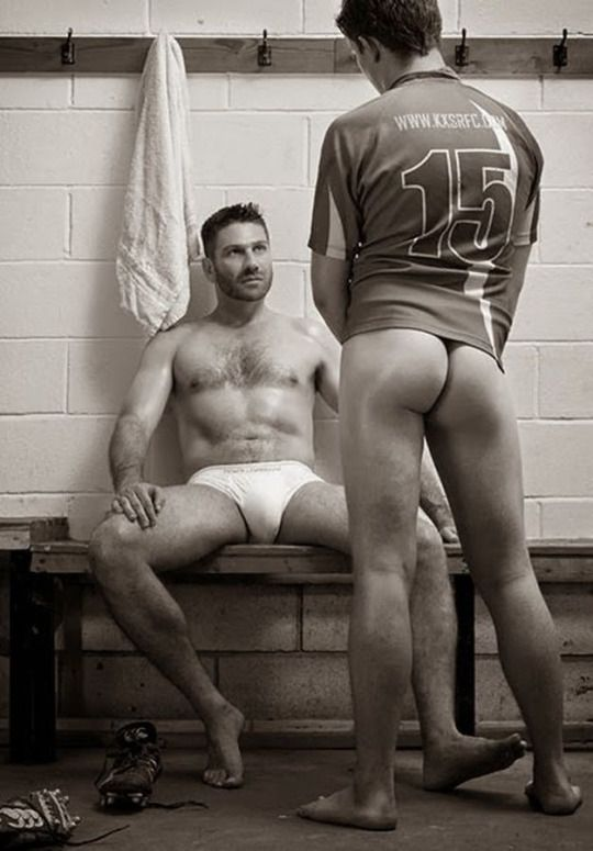 locker room men jack off