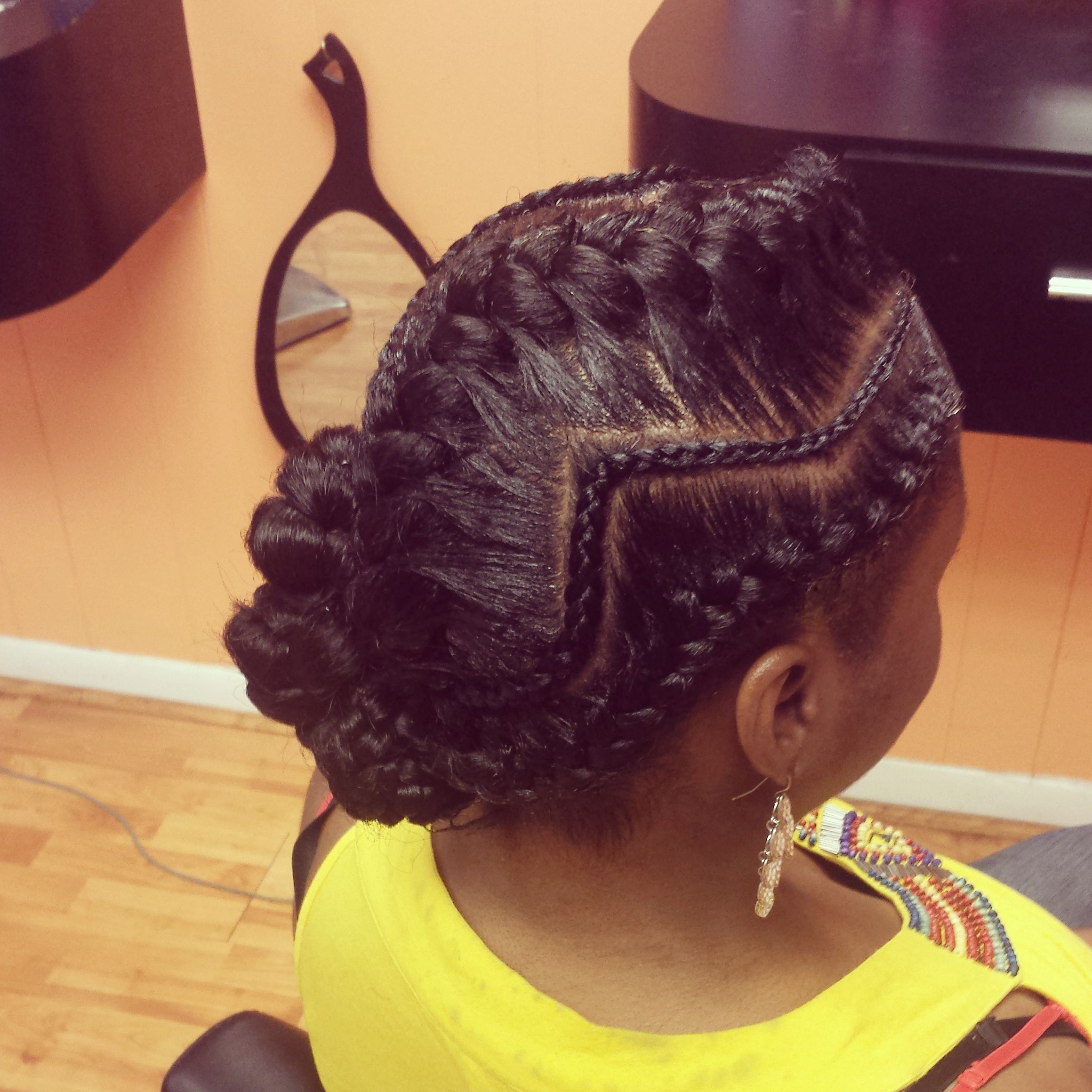 Zig Zag Braid Shared By Belinda Http Www Blackhairinformation Com Community Hairstyle Gallery With Images Natural Hair Styles Goddess Braids Hair Inspiration