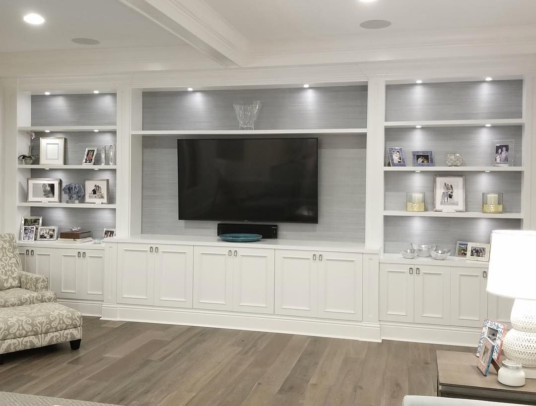 living room built in wall units