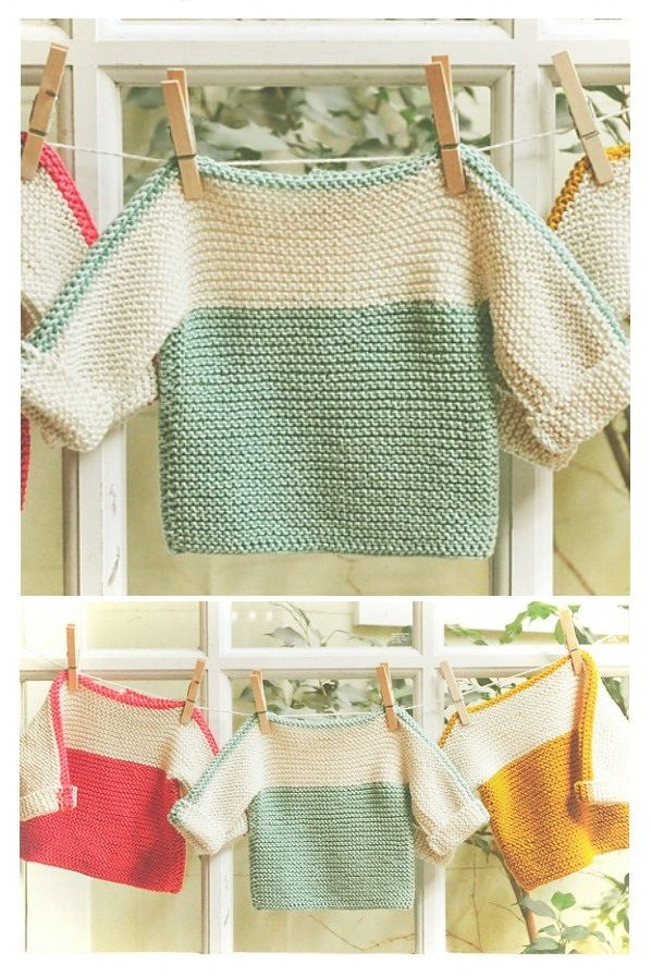 French Macaroon Baby Sweater Free Knitting Pattern | Knitting #children'ssweaters