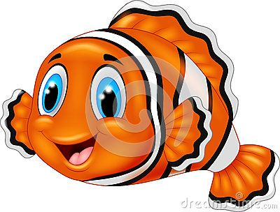 Cute Clown Fish Cartoon With Images Cute Clown Clown Fish