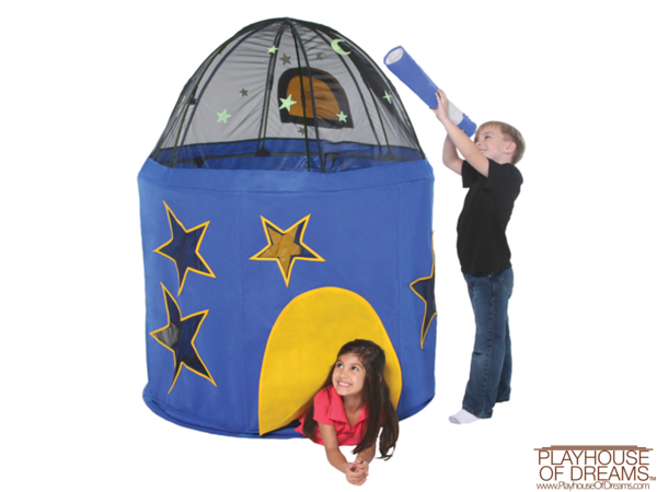 Let your little astronomer explore the universe in our Bazoongi planetarium. Light weight. EASY assembly, clean-up and storage. Meets ASTM-F963 Safety Standards.