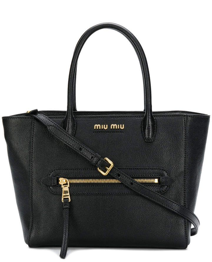 Miu Miu small logo tote bag   Products   Pinterest   Miu miu, Tote ... 7d1f2354b5