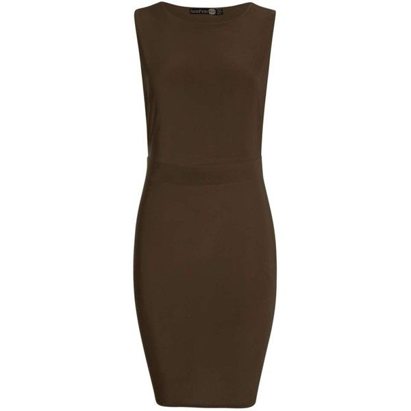 Agnes Slinky Drop Armhole Bodycon Dress ( 3.02) ❤ liked on Polyvore  featuring dresses a0a744336