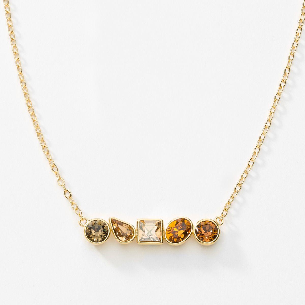 Beautiful Quartz /& Colorado Gold Pendant