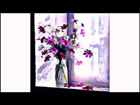 bouquet de fleurs sauvages facile techniques de peinture fleurs peinture l 39 huile ou. Black Bedroom Furniture Sets. Home Design Ideas
