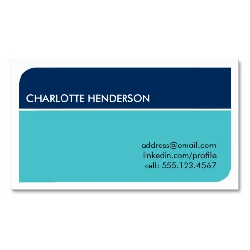 quality product Navy blue smart student employment resume card - business card resume