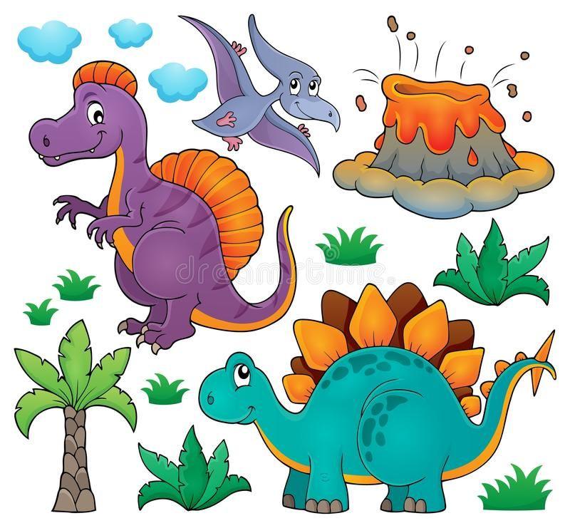 Dinosaur topic set 2 stock vector. Illustration of spinosaurus - 72242449