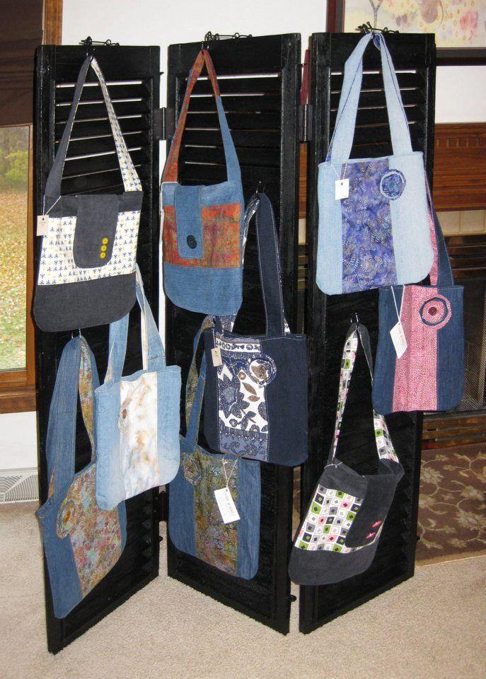 Wood Craft Display Antique Shutters Show Purse Hanger