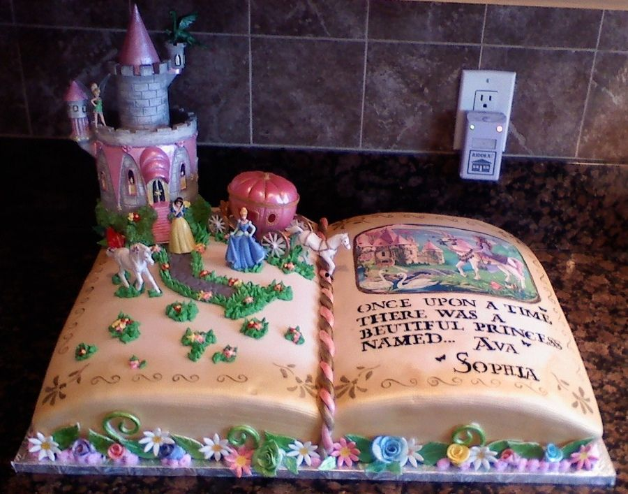 This Was A Story Book Themed Cake That I Made For A Three