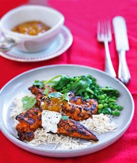 Healthy food guide how to make a cheap healthy family supper tandoori chicken with lime raita healthy food guide forumfinder Images