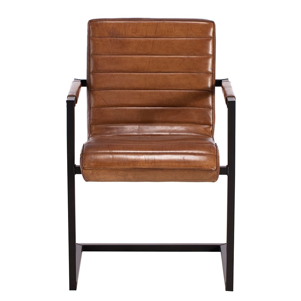 Brutus Buffalo Leather Dining Chair, Brown Available Online At Barker U0026  Stonehouse. Browse Our