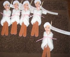spa girls made out of files and cotton pads