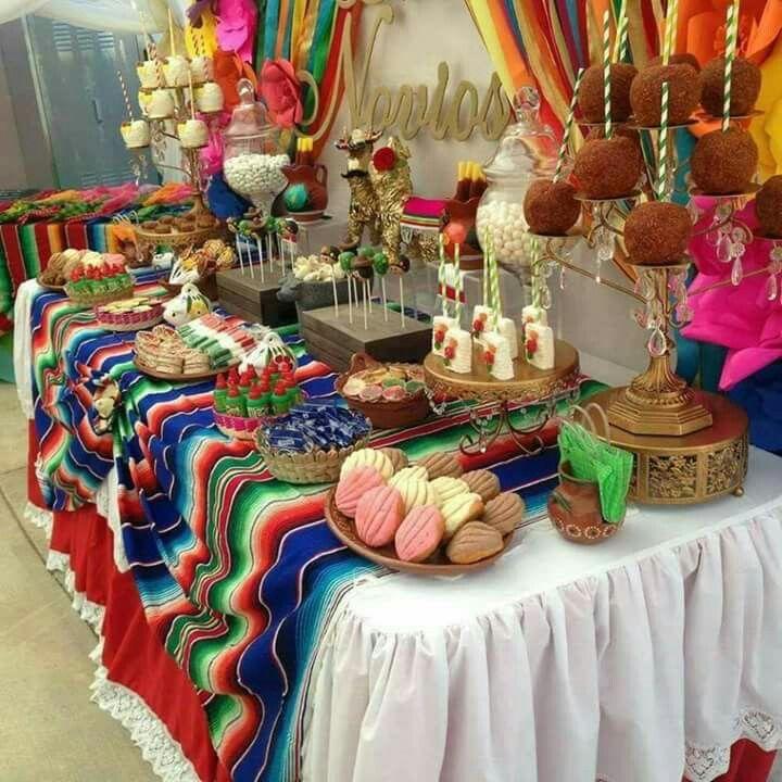 Fiesta Temática: Noche Mexicana. Decoración Para La Mesa