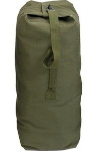 f77ebbca51e3e0 New Gi Type Olive Drab Heavyweight Cotton Canvas Top Load Military Duffle  Bag | eBay