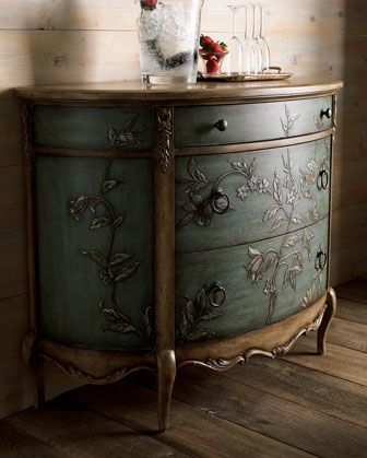 Hand Painted Chest   Neiman Marcus