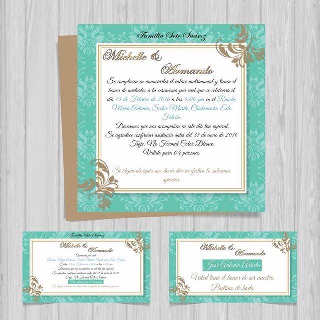 Dise o de tarjetas de invitaci n digitales para boda - Disenos tarjetas de boda ...