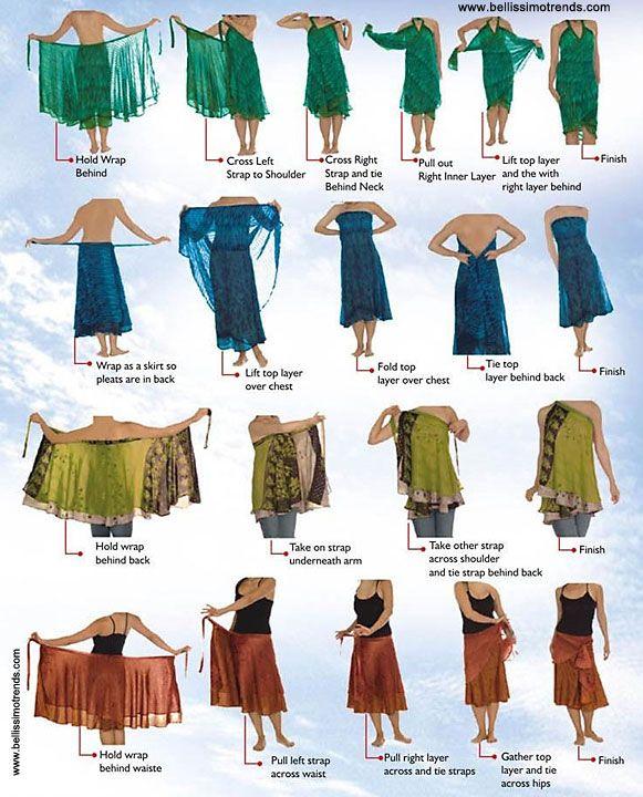 Pareos falda transformables multiusos | Patrones de ropa | Pinterest ...