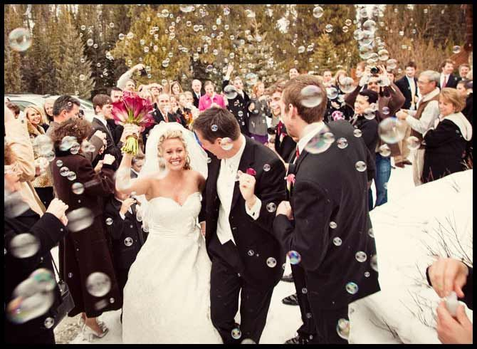 Guests Bubbles At Wedding So Much Fun It Would Be Like We Were