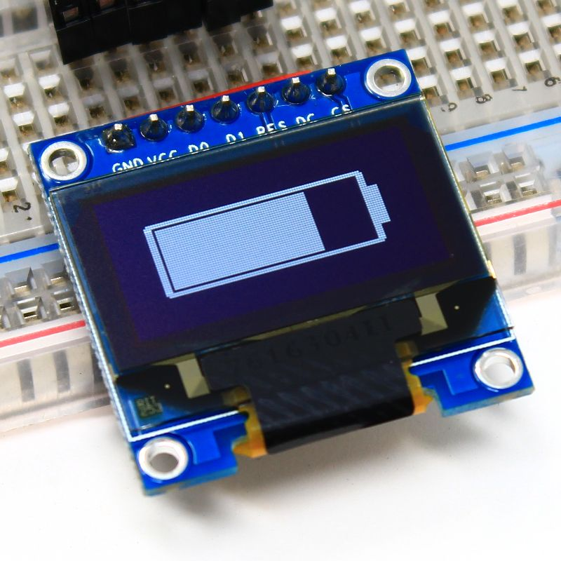 Battery Indicator Using An Oled Display New Electronic Gadgets Arduino Projects Electronics Projects Diy