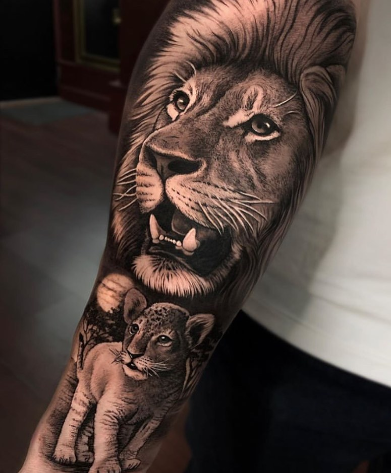 209 Kick Tattoo Lion head tattoos, Lion tattoo sleeves