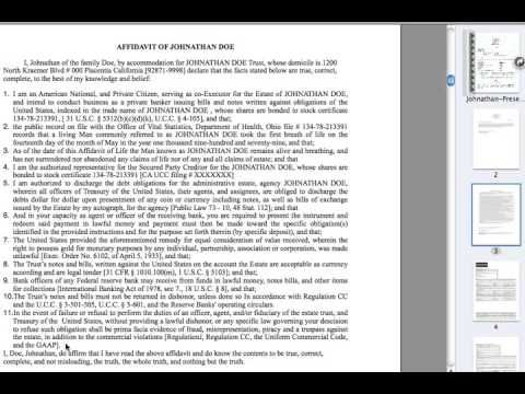 DISCHARGE DEBT \ the Promissory Note - Part 2 of 5 - YouTube - promissory notes